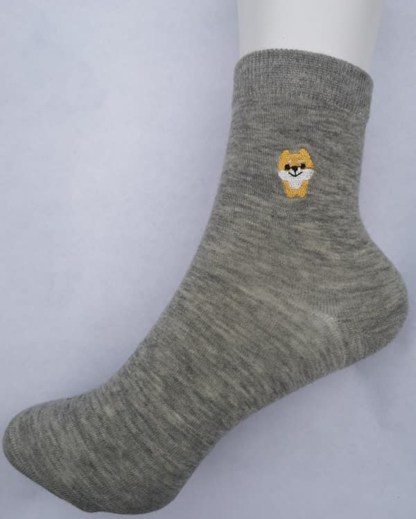 Yellow Cat Ankle Sock